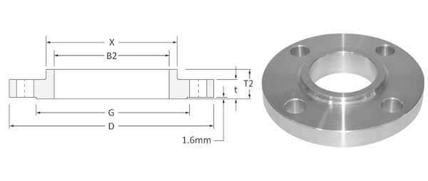 ASME B16.47 SORF Flanges Dimensions